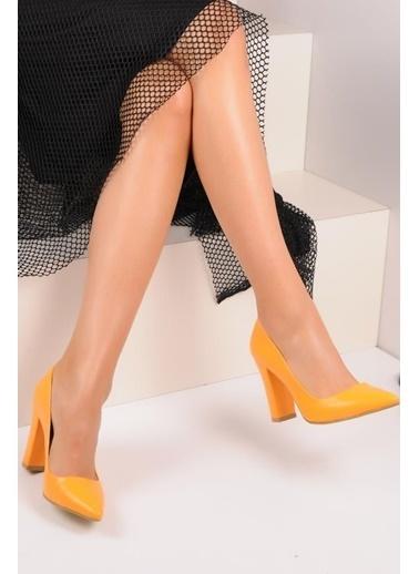 Pembe Potin A2000-19 Kadın Topuklu Ayakkabı A2000-19 Hardal